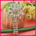 китай поставщик дешево сделать ткани цветок брошь, брошь букет для свадебного платья wbr-1331