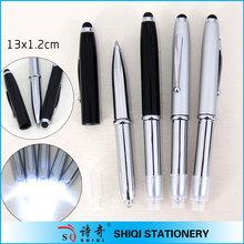high quality luxury 3 in 1 led metal pen stylus pen