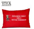la costumbre de la historieta impresa algodón de color rojo de la cama barata almohada