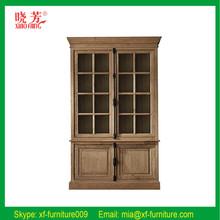 New product oak home furniture antique wood bookshelf