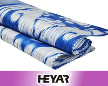 80s Fabric Pattern Custom Vivid Blue White Print 100 Cotton Sateen Fabric