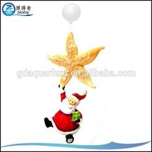 SI-009 Santa Claus Holding Starfish Fish Tank Floating Christmas Ornaments