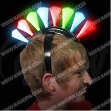 HW-01A 8 LED Flashing Fiber Mohawk Headband