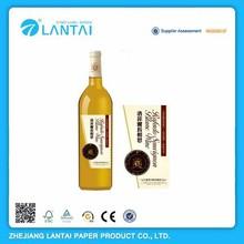 Hot selling advantage technology new style packing wine bottle neck label