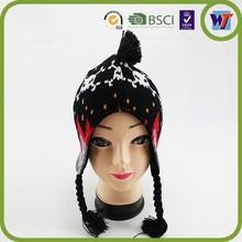 2014 knitted fashion beanie hat winter knitting pattern earflap hat