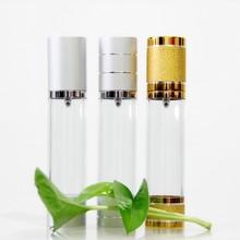 Botella de aluminio para el cuidado de la piel botellas decorativas