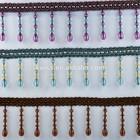 fashion wholesale handmade beaded curtain fringe trimmig