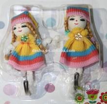 colorful dress with small flower lovely korean girl design hotmelt adhesive PE hook