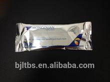 disposable single pack customized refreshing wipe towel lemon