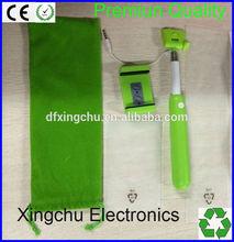 2014 High quality kingwon selfie stick , wireless monopod bluetooth shutter button , Cable take pole selfie stick