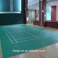 Wood pattern indoor volleyball pvc flooring