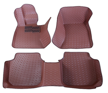 Customized 5D XPE Material Heated Car Floor Mat Brown Color