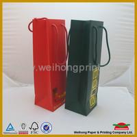 top sale paper packaging bag for wine bottle