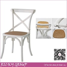 Rental wooden wedding cross chair,Bistro Rattan Chairs,White Wedding Chairs For Sale