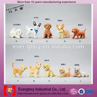 custom small plastic dog figurines,plastic toy dog model,moving toy dog