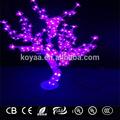 Led 0.8m cristal árbol de navidad de luz para la decoración de bar café sj-192 de color rosa