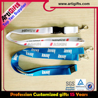 Sublimation cheap custom neck zipper lanyards