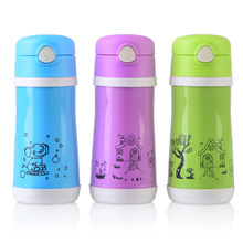 350ml stainless steel and PP children bottle