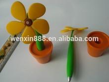 wholesales sunflower plastic ballpoint pen for decoration