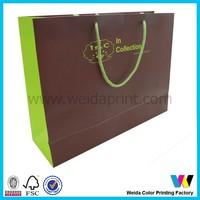 customized design apparel paper packaging bag