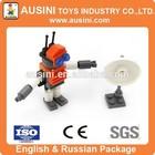 ausini 34pc plastic tube building blocks toy
