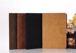 Luxury Retro Book kick Stand PU Leather Case Cover for Apple iPad 2/3/4,10pcs/lot