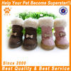 JML Hot sale top quality PU leather boot pink/brown fashion dog shoe for winter ues