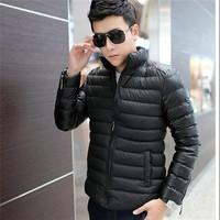 HFR-JTM005 Chinese manufacturer whole sale men winter slim fit light thermal warm down jacket