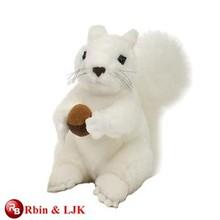 customized OEM design plush white squirrel