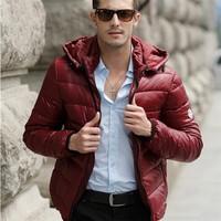 HFR-JTM014 Ultra light foldable men solid shiny therm warm down jacket for men