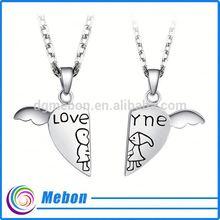 lover pendant silver