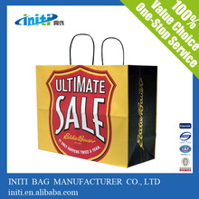 2015 alibaba school shopping craft paper bag with handles with printing