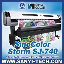 SinoColor SJ-740 1.8m Small Eco Solvent Printer at Good Price
