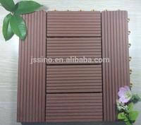 Non-slip Wood Composite Decking Tiles/Interlocking WPC Composite Deck Tiles/Floor Tiles