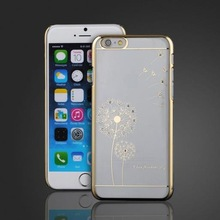 Personalized Custom Plating Flower Picture Cell Phone Case for iPhone 6