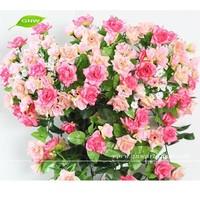 GNW FLV08 Silk Rose Bush Flower Latest Wedding Decoration Cheap Artificial Flower