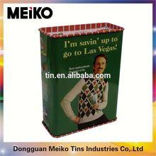 square tin box for tea