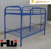Modern Design Metal Bunk Beds,Blue Color Iron Beds, Adult Bunk Bed
