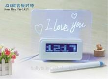 2014 Decorative Led Alarm Clock ,digital led message board alarm clock
