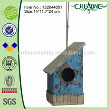 9.5 inch Antique Wooden Bird House for Garden