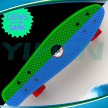 glow in dark skateboard plastic cruiser banana skateboard,fish brand OEM board