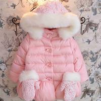 MS61691C kids glove pockets pink Christmas very warm winter coats