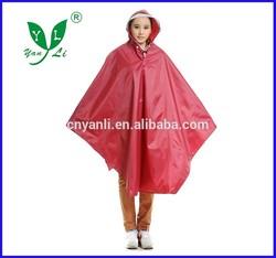 New Design Fashion big waterproof brim Bicycle Rain poncho