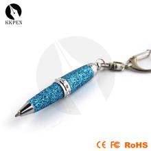 Jiangxin 2014 new mini hiddren new led light metal pen with roller pen