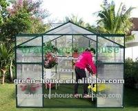 2014 hot sale easy grow aluminum hothouse, glass house, warm house, garden indoor, nursery, conservatory