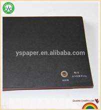 Low grammage full wood pulp Pure black cardboard paper sheets