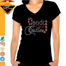 Candy Cane Cutie Beautiful Motif Tshirt Heat Press
