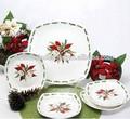 Venta al por mayor de placas de cerámica de navidad, mickey seramik kupa, baratos de porcelana blanca de platos de postre