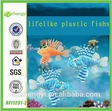 2014 China Supplier hot new products lifelike plastic fish ,wholesale plastic fish figurines