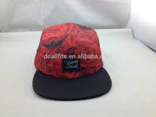 Hot money printing 5 panel hat and snapback cap